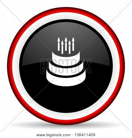 cake round glossy icon, modern design web element