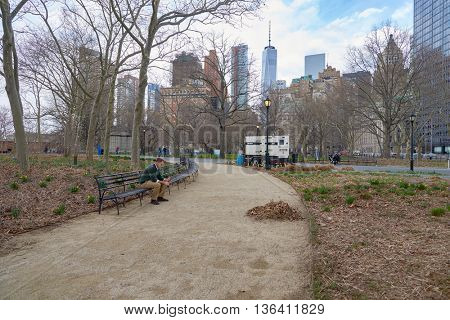 NEW YORK - CIRCA MARCH 2016: New York at daytime. The City of New York is the most populous city in the United States.