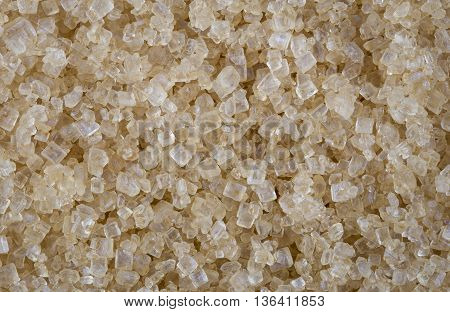 Background of close focus brown cane sugar