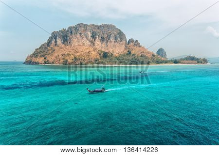 View of the rocky islands in Andaman sea, Thailand