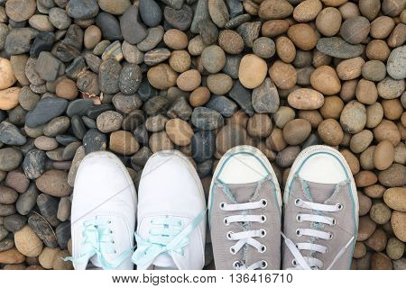 Four shoes on pavement, World Wide Travel