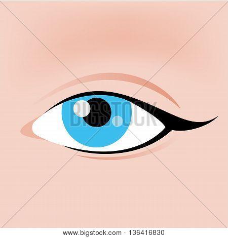Eye Icon in Flat Design for Creative Idea