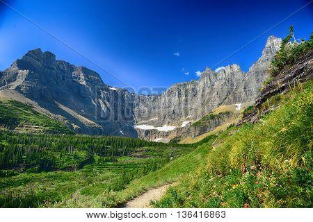 iceberg lake in Glacier national park montana