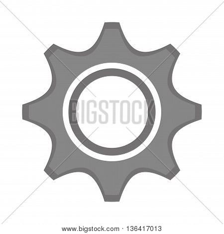 grey construction screw front view over isolated background, vector illustration