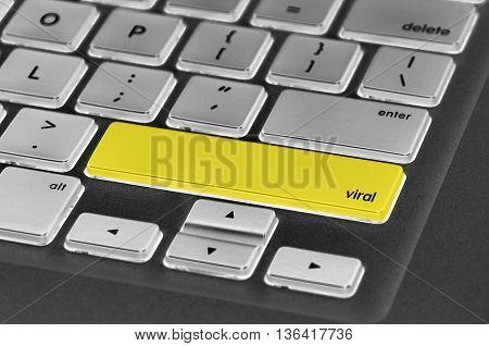 The Computer Keyboard Button Written Word Viral