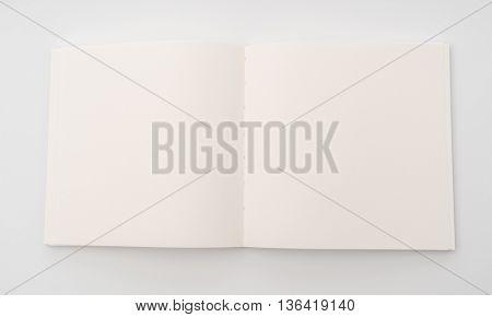 Blank catalog,brochure, magazines,book mock up on white background