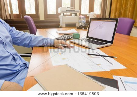 Business Man Working With Paperwork
