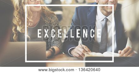 Excellence Development Growth Work Hard Concept