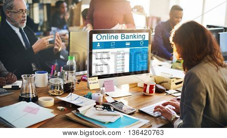 Online Banking Finance Banking E-banking Concept