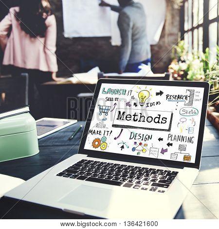 Method Strategy Business Workflow Progress Concept