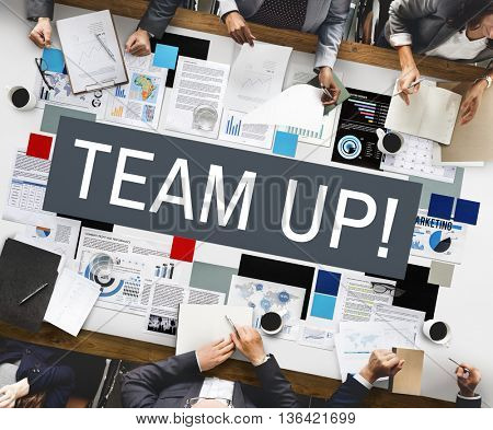 Team Up Alliance Collaboration Corporate Concept