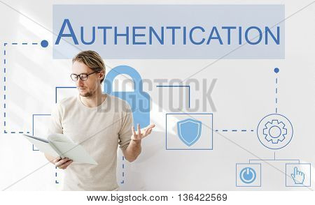 Log in Accessible Password Authorized Permission Concept