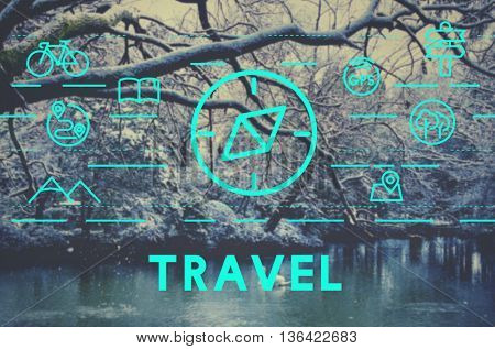 Journey Vacation Holiday Travel Compass Concept
