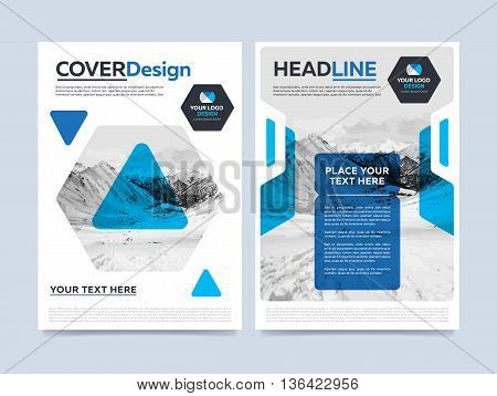 Cover Design Concept. Annual Report Flyer. Brochure Layout
