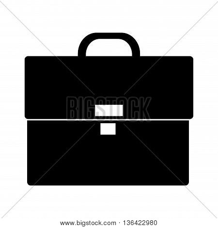 black business suitcase over isolated backgorund, vector illustration