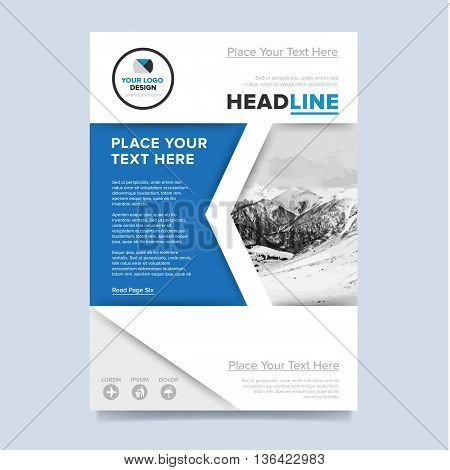 Blue brochure design. Creative brochure cover. Brochure template. Cover design concept. Annual report flyer. Brochure layout. Brochure design template. Annual report template. Business brochure. Annual report cover design.