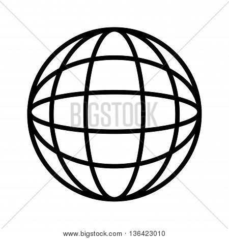 black and white abstract world map over isolated background, vector illustration