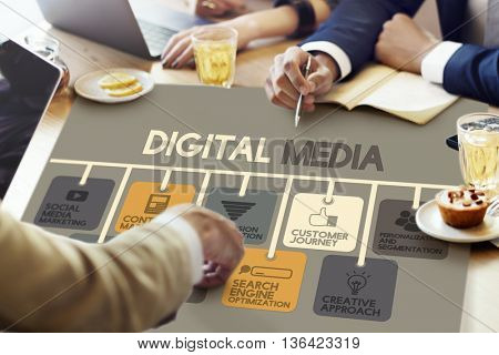 Digital Media Online Marketing Advertising Concept