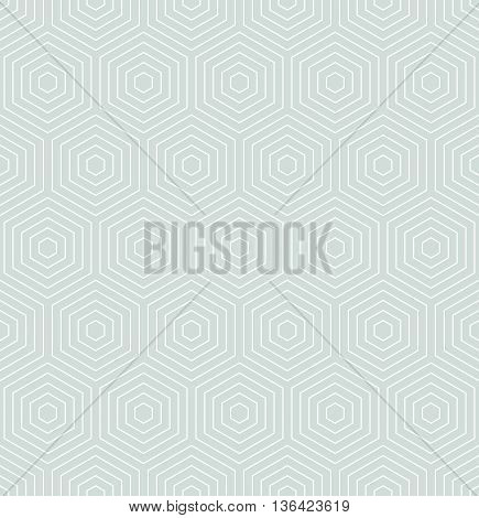 Geometric fine abstract hexagonal background. Seamless modern blue and white pattern