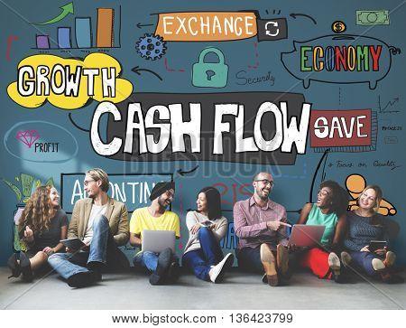 Cash Flow Finance Business Money Profit Budget Concept
