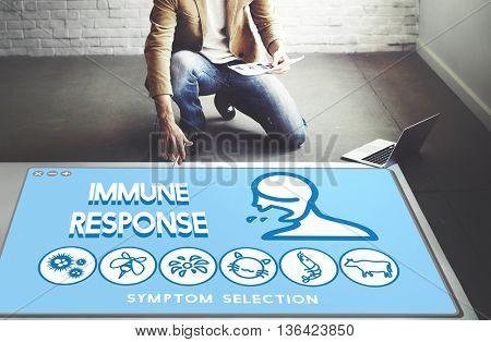 Immune Response Allergy Disorder Sickness Healthcare Concept