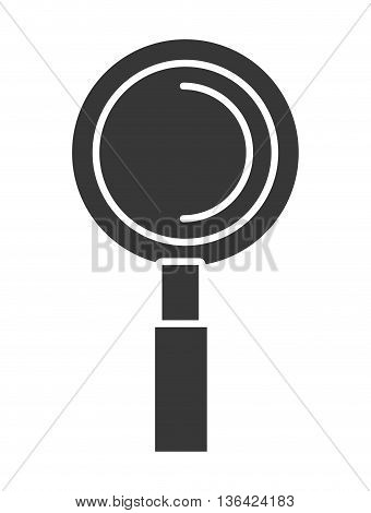 black lens front view over isolated background, vector illustration