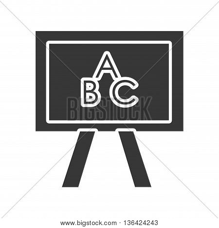 black and white school board front view  over isolated background, vector illustration