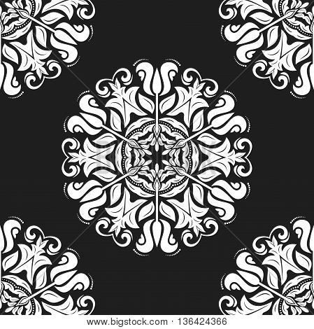 Oriental classic black and white ornament. Seamless abstract background