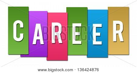 Career text alphabets written over colorful background.