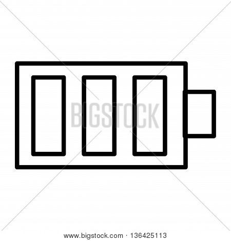 black and white battery design side view over isolated backgorund, vector illustration