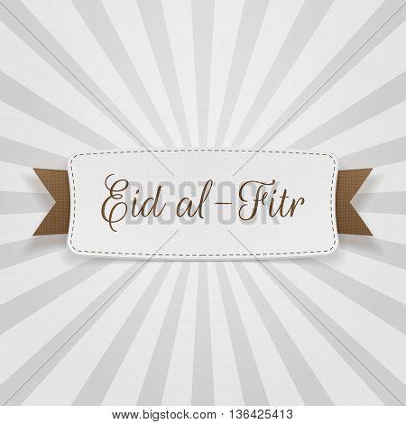 Eid al-Fitr decorative greeting Badge. Vector Illustration
