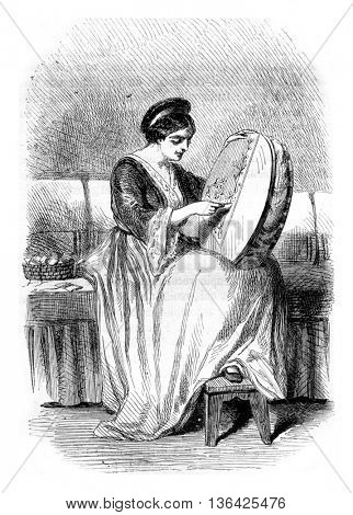 An Armenian, vintage engraved illustration. Magasin Pittoresque 1861.