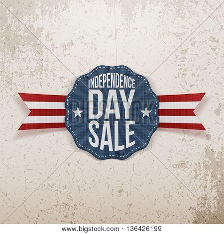 Independence Day Sale vintage Emblem. Vector Illustration