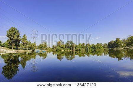 Beautiful Reflection At Whittier Narrows Recreation