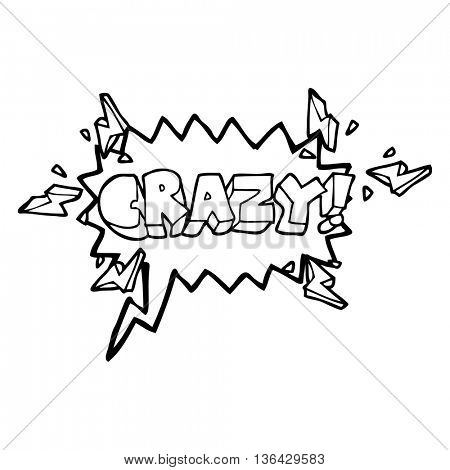 freehand drawn speech bubble cartoon shout crazy