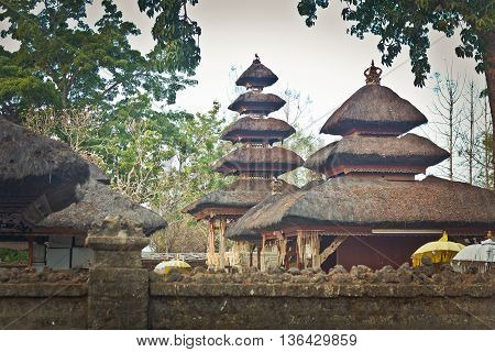 roof of the temple in Bali, Indonesia