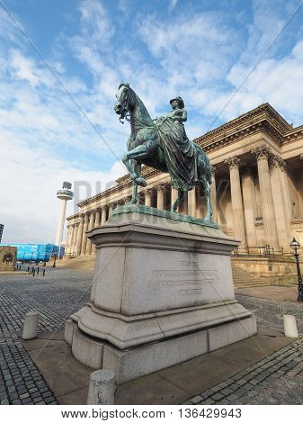 Queen Victoria Statue At St George Hall In Liverpool