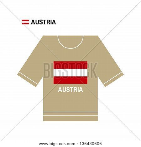 Vector Austrian t-shirt symbol. Austria National sport team isolated on white.