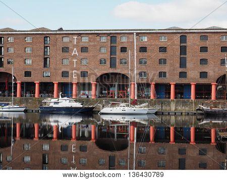 Albert Dock In Liverpool