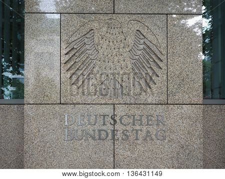 Deutscher Bundestag Eagle In Berlin