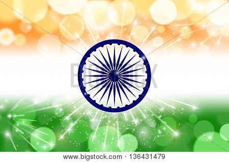 Indian Flag Theme Background For Indian Republic Day And Independence Day. 15 Of August. Vector Illu