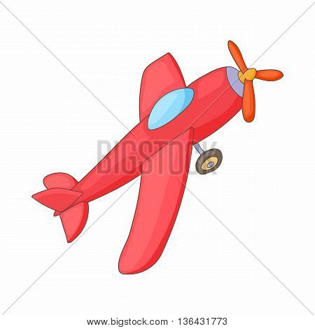 Red aircraft icon in cartoon style on a white background