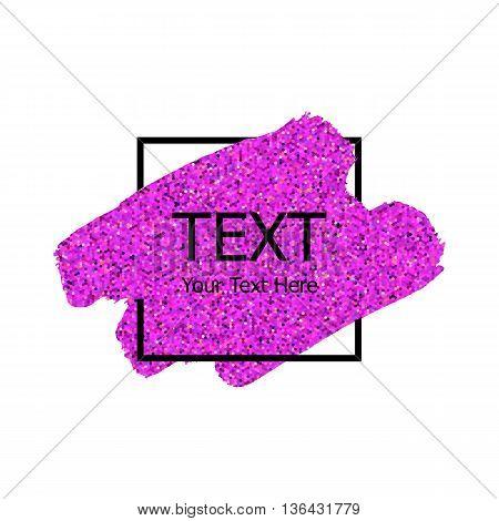 Vector Pink Sparkle Paint Stroke