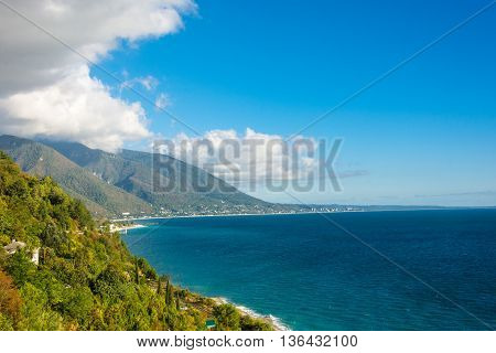 The Black Sea Coast Of Abkhazia.