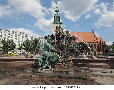 Neptunbrunnen Fountain In Berlin