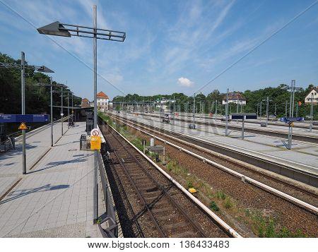 Olympiastadion S-bahn Station In Berlin