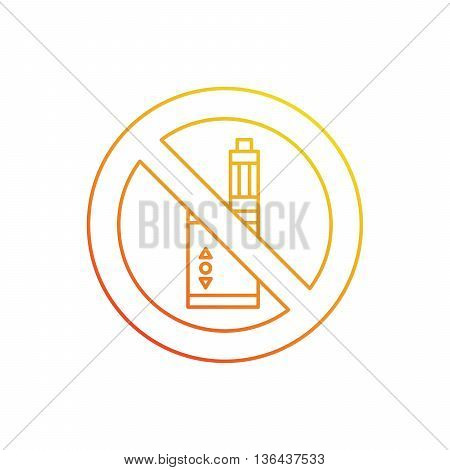 Vector illustration of electronic cigarette for vape shop and vape service e-cigarette store public places isolated .