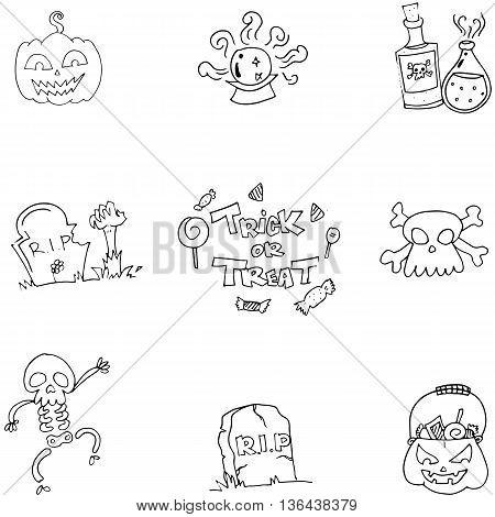 Doodle of Scary element Halloween vector art