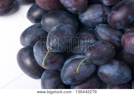 Group Of Plums. Fruit Background