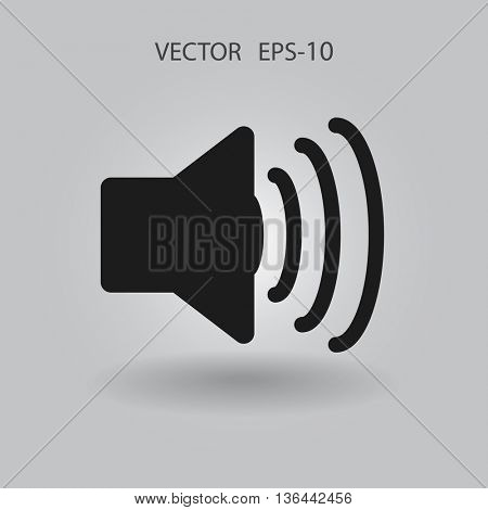 Flat icon of speaker